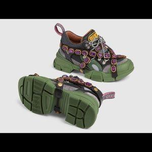 Gucci SEGA Crystal Sneaker - Size 7